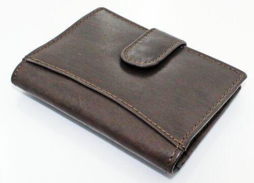 Véritable Cuir Souple Carte de crédit titulaire Wallet Avec 12 Plastique Transparent Poches