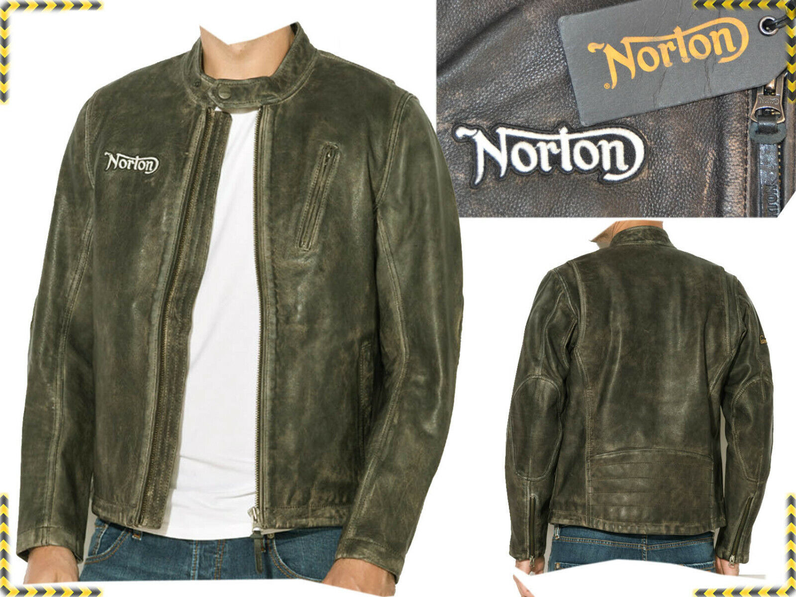 NORTONbyPEPEJEANS Jacket Man 100 % Leather L European 490 € Here Less!...