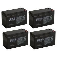 UPG 4 Pack - 12V 7Ah Home Alarm System Back Up Replacement for Power Patrol Batt