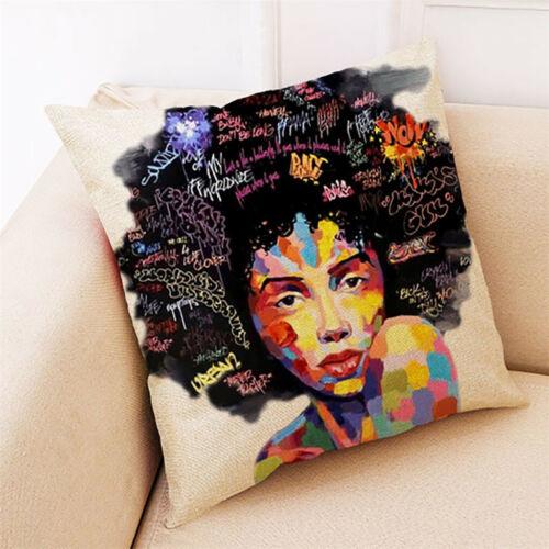 Home Decor Cushion Cover African Women Print Pillowcase Throw Pillow Covers Case