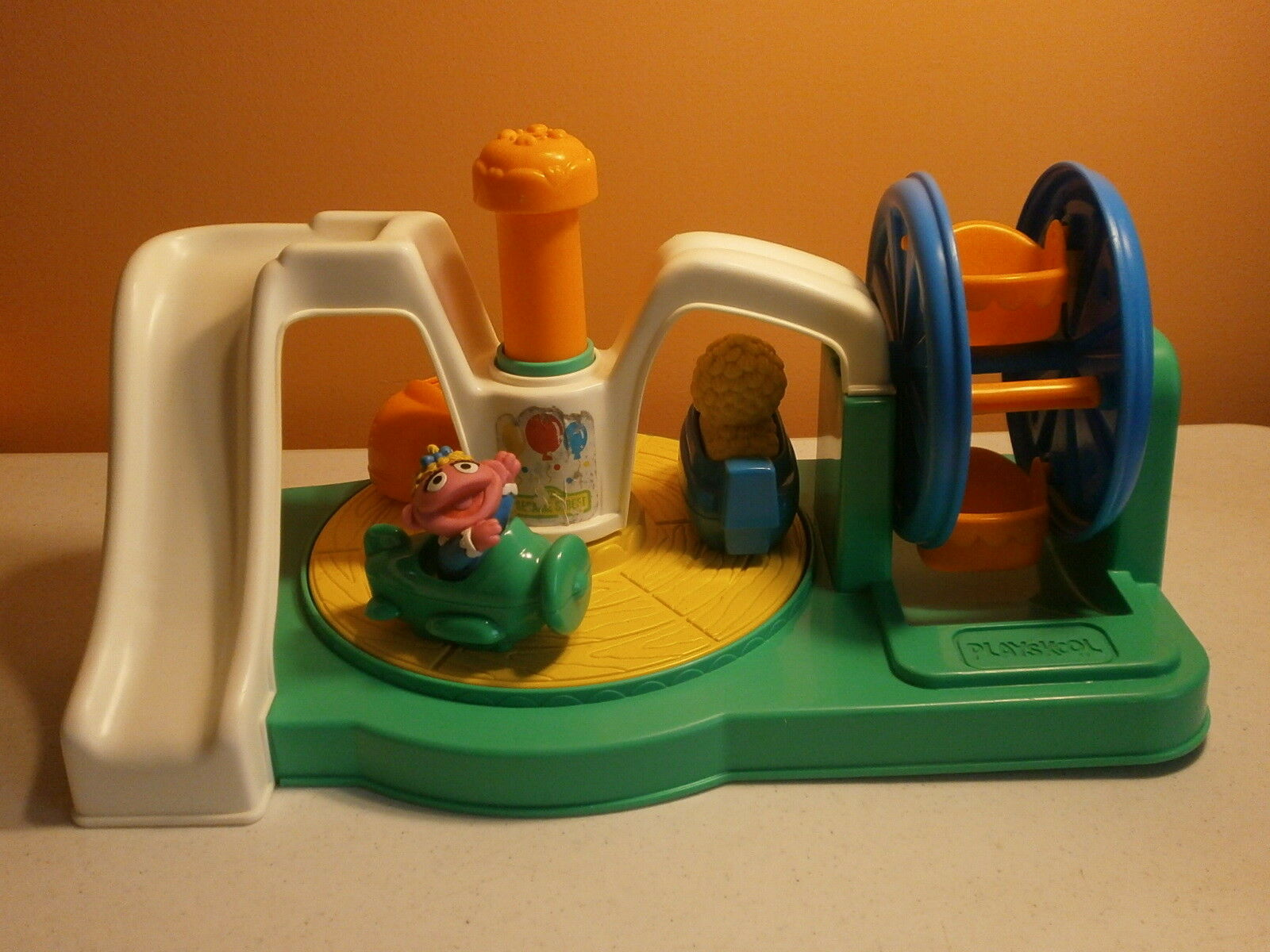 Playskool-Sesame Street-Push and Playground-1991-Vintage Spin Playground-1991-Vintage and e3600b