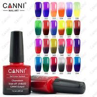 CANNI Farbwechsel Thermolack UV-LED Chameleon Gel Nagellack 7,3 ml- 24 Farben