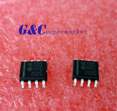 50PCS NE555 555 SOP Timers TI IC  NEW date code:12+ GOOD QUALITY