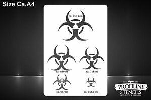 Biologische-Gefaehrdung-Airbrush-Design-Schablone-Biohazard-Effect-Stencil