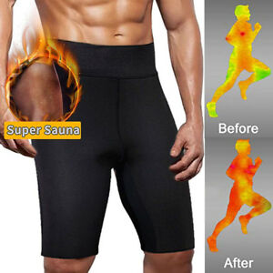 8ef8c6016d Details about Men s Hot Thermo Neoprene Sweat Sauna Body Shaper pants  Weight Loss Slim Shorts
