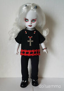 Living Dead Doll Clothes Goth Top, Leggings & Jewelry black  Fashion NO DOLL d4e
