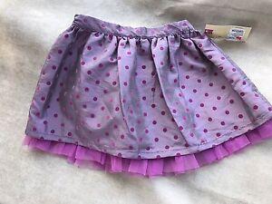Tops & T-shirts Nwt Cherokee Girl Purple Lilac Polka Dot Tutu Lined Skirt Sz 2t Baby & Toddler Clothing