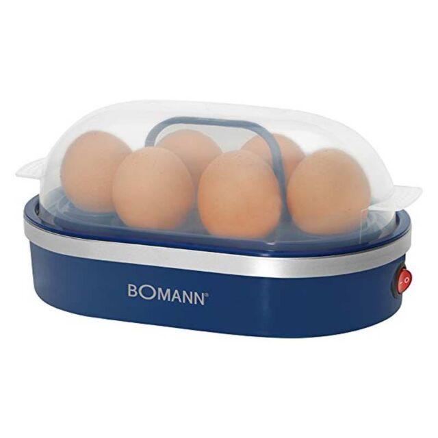 Bomann EK 5022 CB Eierkocher blau bis 6 Eier Eihalter herausnehmbar