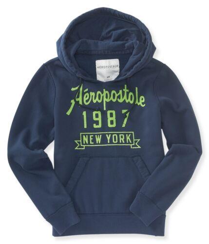 Aeropostale Mens Aero Flocked Popover Hoodie Hooded Sweatshirt S,M,L,XL,2XL,3XL