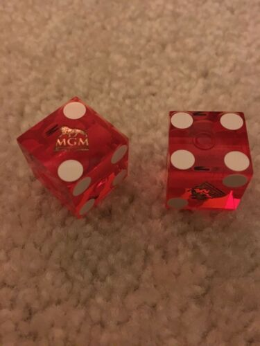 2 NEW Lot of MGM National Harbor Hotel /& Casino Red Playing Dice 6-Sided Craps
