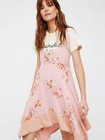 Free People Faded Bloom Mini Slip Dress Size S Small $98