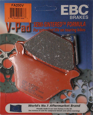 FA200V 1 Set EBC Semi-Sintered V Series Rear Brake Pads