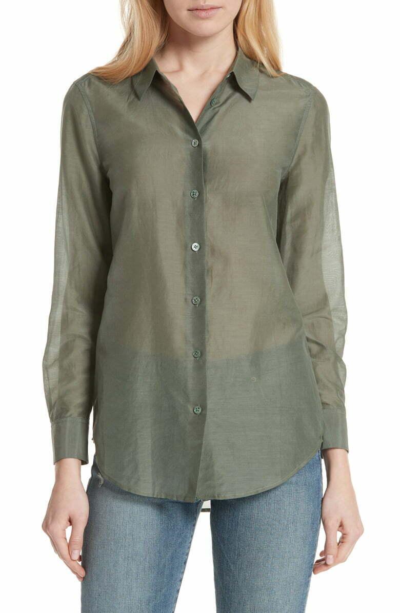 Equipment Essential Cotton Shirt 10280 Größe Medium