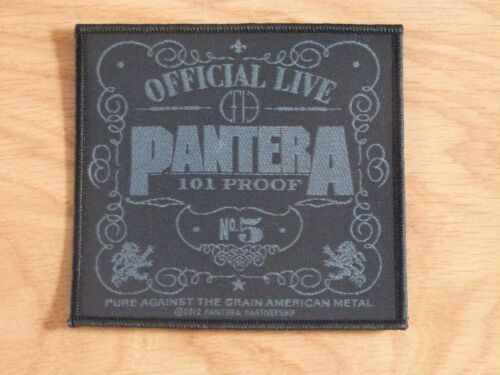 PANTERA 101 PROOF NEW SEW ON PATCH OFFICIAL BAND MERCHANDISE