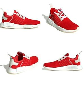 Adidas Nmd R1 Boost Running Shoes Active Red Ecru Tint Mens Size 9