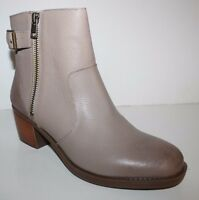 Gh Bass Women Alice Taupe Leather Buckle Ankle Boot