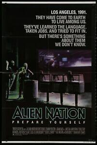 Alien Nation James Caan ORIGINAL CULT 1988 1 SHEET MOVIE POSTER 27 x 41 v