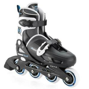 4 Shoes 1 Kids about Xootz Black Junior Inline Blades Skates Boots Details TY5744 Roller White rtshQCd