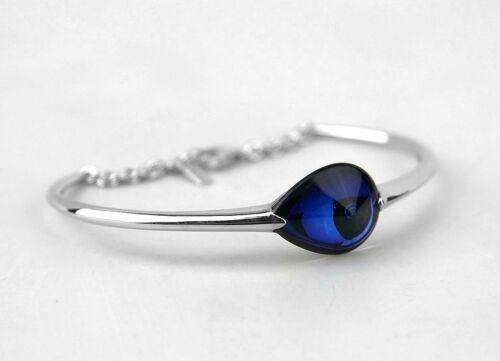 Argent Bleu MORDORE Bracelet New France M BACCARAT bijoux fleurs de Psydelic St