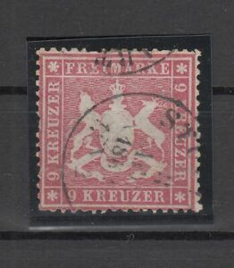 X2337-GERMANY-WURTEMBERG-MI-19y-USED-SIGNED-CV-355