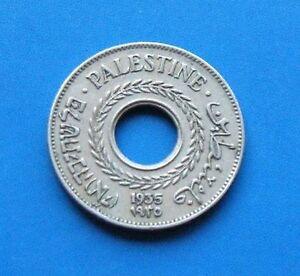 Israel-Palestine-British-Mandate-5-Mils-1935-Coin-XF