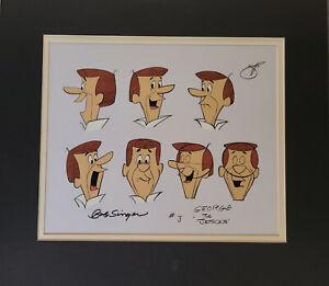 Hanna Barbera: Jetsons: George Jetson Original Model Cel Signed by Bob Singer