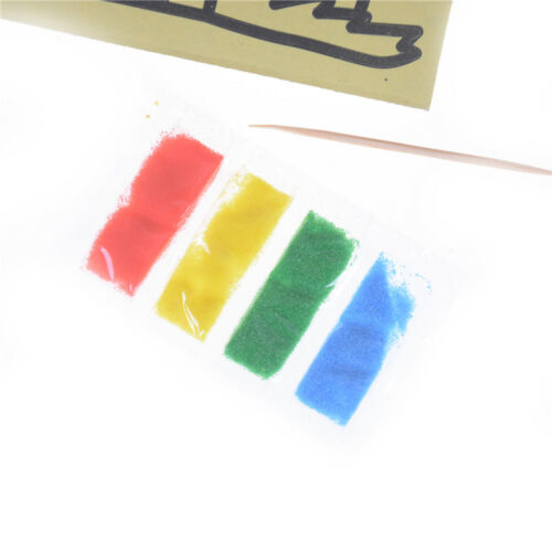 10pcs Kids DIY`Color Sands Painting Art Creative Drawing Toys Sands Paper Crafts