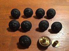 USMC Marine Corps Bronze metal screw back Frame visor hat button lot