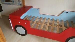 Details zu Kinderbett 90x200 Auto,Feuerwehr🚒