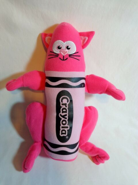 "Crayola Crayon Pink Cat Plush 13"" Stuffed Animal Toy 2008 NANCO"