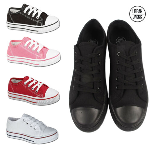 Boys Girls Canvas Shoes  Kids Toddlers Infants Sports School Pumps Trainers Size