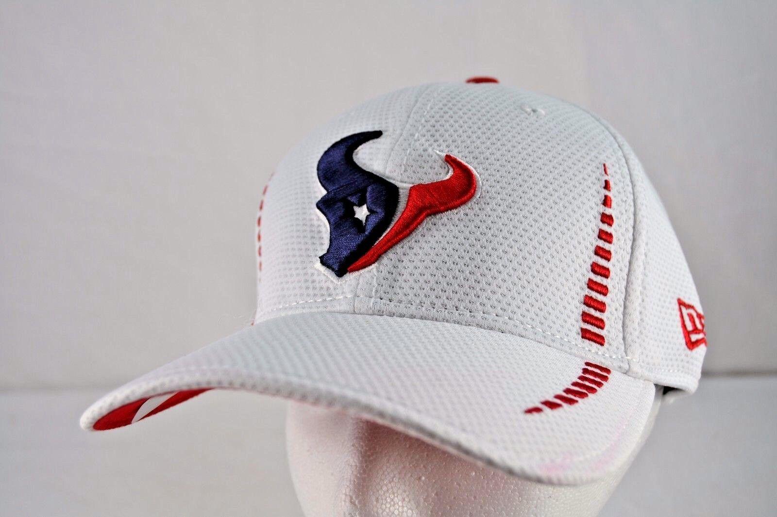 Houston Texans Cap White New Era Baseball Cap Texans Stretch Fitted S/M 5f3c6b