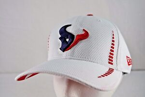 26e66ce153f Image is loading Houston-Texans-White-New-Era-Baseball-Cap-Stretch-