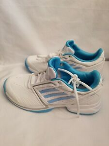 76c9553518 Details about NEW Adidas Allegra US 7 Mens White/Turquoise Gym Sneakers  Tennis Shoes