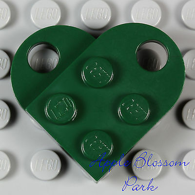Token of Irish Love Valentine NEW Lego St Patrick/'s Day DARK GREEN HEART