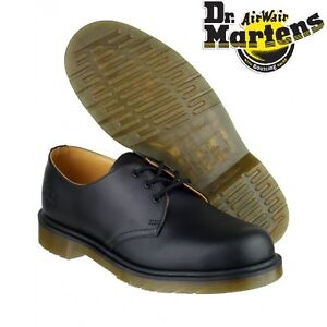 Dr Martens Airwair DM 8249 3-eye black leather non-safety gibson shoe size 3-15