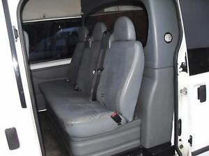 b94d543fb4 FORD TRANSIT MK7 2006+ DOUBLE CAB VAN SEAT COVERS BLACK QUILTED ...