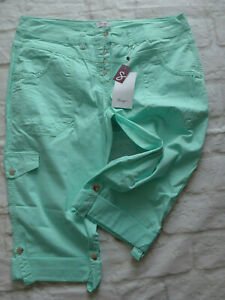 Sheego-Pants-Ladies-Cargo-Trousers-Ladies-Size-40-to-58-Turquoise-015