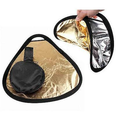 New 2in1 30cm Gold/Silver Portable Folding Handheld Photograph Reflector  H