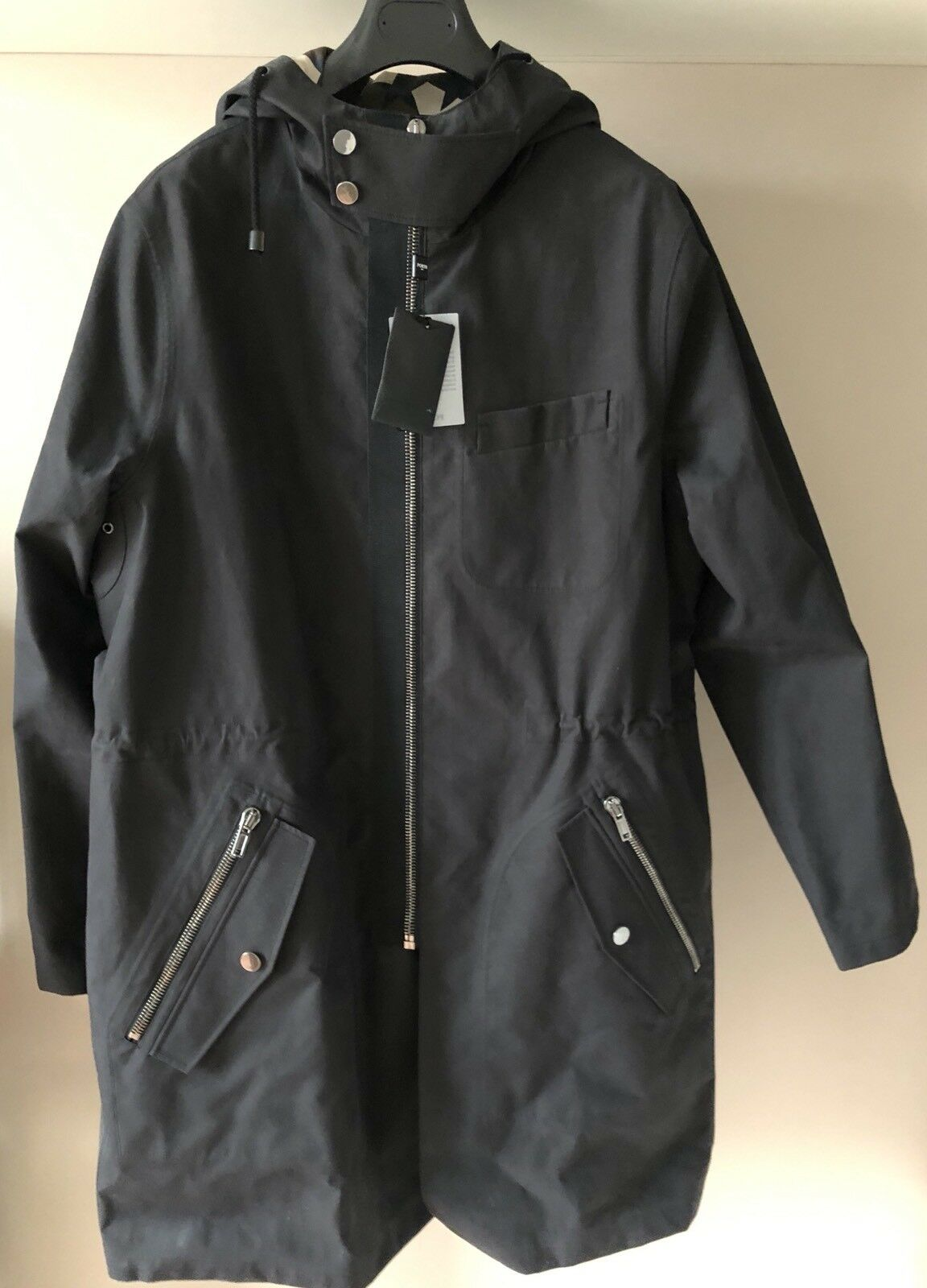 PORTS 1961 Waterproof COAT with HOOD, Breathable and fully seam sealed.STARSCAMO