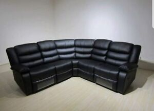 Image Is Loading Brand New Roma Leather Corner Recliner Sofas With