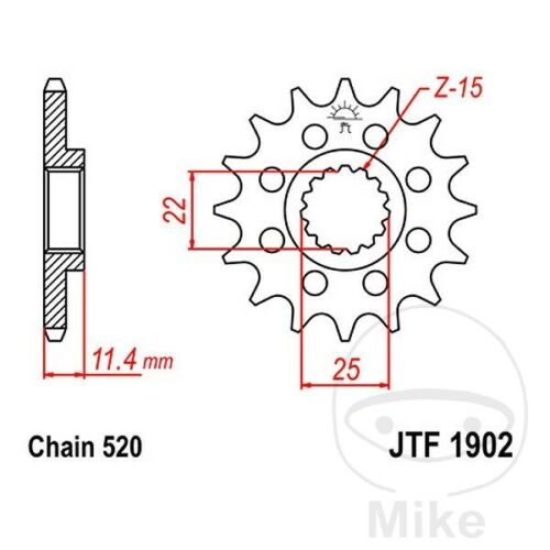 JT Front Sprocket 16T 520 Pitch JTF1902.16 KTM Duke 690 R ABS 2014