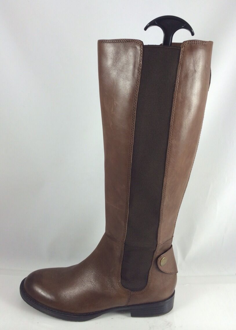 Franco Sarto Womens Brown Leather Knee Boots 6 M