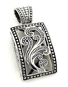 Silpada-Sterling-Silver-Paisley-Filigree-Rectangular-Scroll-Pendant-S1744