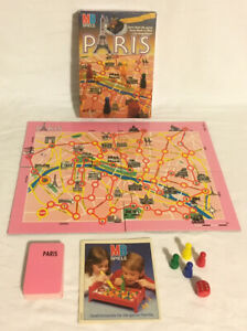 Paris-Board-Game-1987-MB-Spiele-Milton-Bradley-German-Vintage-100-Complete-Rare