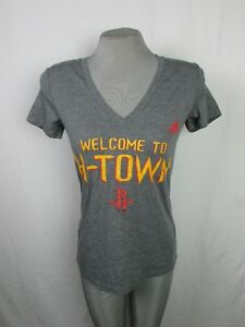 Houston Rockets Welcome to H-Town Adidas Women's T-Shirt NBA Gray Large XLarge