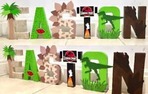 Jurassic Park World Letters Names Dinosaur Trex Bedroom Decor Kids Children Ebay