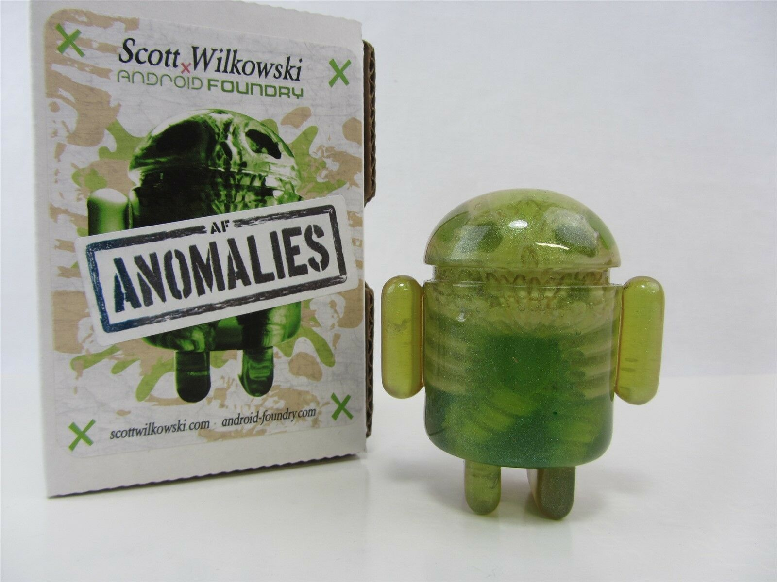 Scott Wilkowski Infected Android anomalies Résine sculptures-Vert Avec Sparkles