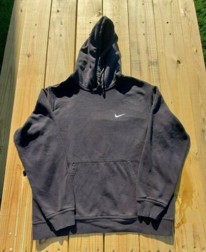VTG 90s Nike Embroidered Swoosh Hoodie Black Travi