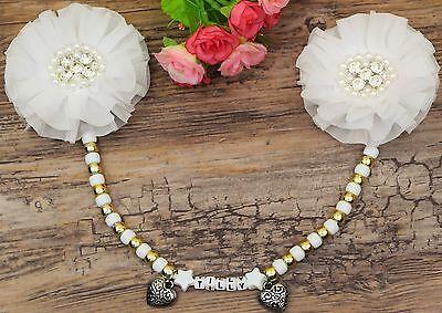 Colto Splendido Ciondolo Carrozzina Personalizzato In Bianco E Oro Per Baby Boys Girls-